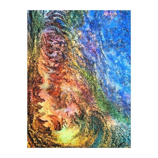 Hombre de piedra por el rafi talby impresión en lona