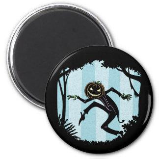 Hombre de Punkin del bosque Imán Redondo 5 Cm