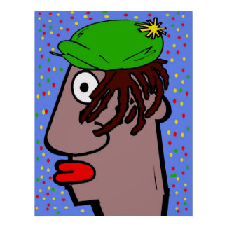 Hombre de Rasta Poster