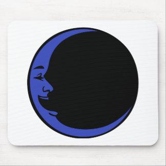 Hombre de risa negro de la luna de la luna azul de alfombrillas de raton