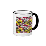 Hombre de rojo y amarillo de acero tazas de café