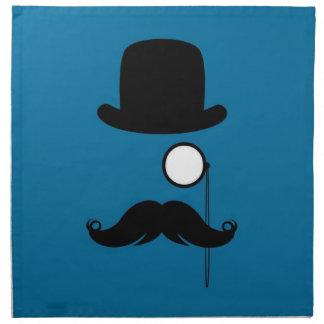 Hombre de Stache del bigote del bigote Servilletas Imprimidas