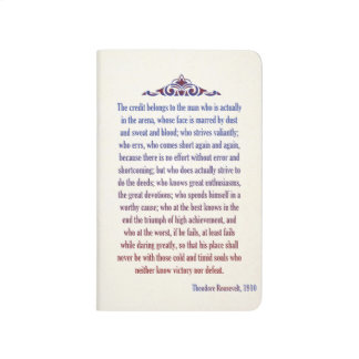 Hombre de Teddy Roosevelt en el cuaderno de la are