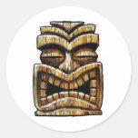 Hombre de Tiki Pegatina Redonda