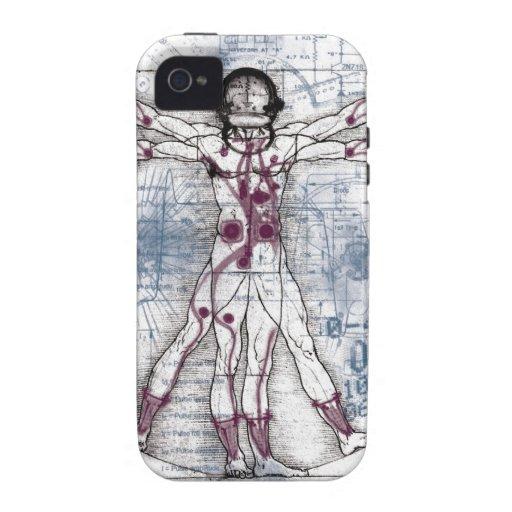 HOMBRE de U.V (hombre universal de Vitruvian) Case-Mate iPhone 4 Carcasa