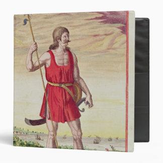 """Hombre de una tribu vecina al Picts Carpeta 1 1/2"""""""