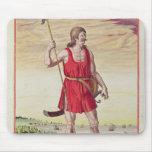 Hombre de una tribu vecina al Picts Tapetes De Ratón