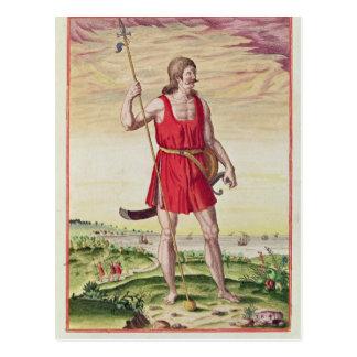 Hombre de una tribu vecina al Picts Postal