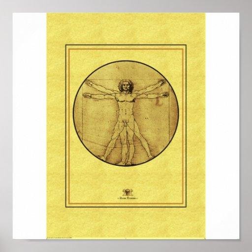Hombre de Vitrivius Posters
