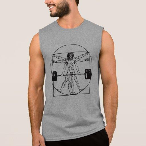 Hombre de Vitruvian - Barbell Deadlift - camisa