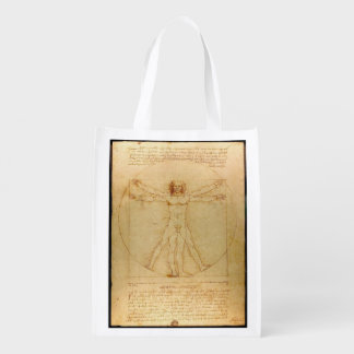 Hombre de Vitruvian de da Vinci Bolsas De La Compra