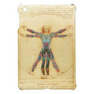 Hombre de Vitruvian de da Vinci con los tatuajes