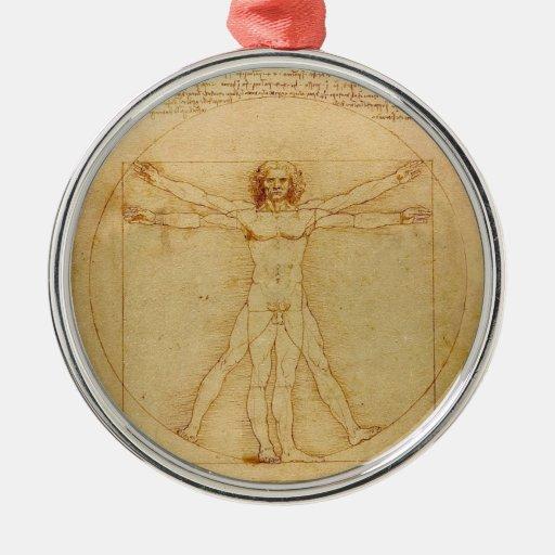 Hombre de Vitruvian de da Vinci Ornamentos Para Reyes Magos