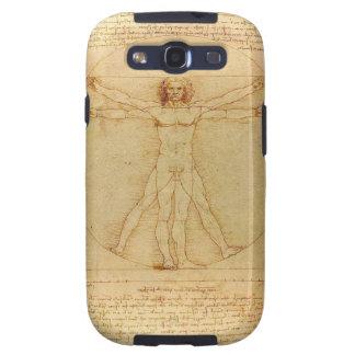 Hombre de Vitruvian de da Vinci Galaxy S3 Cárcasas