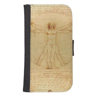 Hombre de Vitruvian de da Vinci Funda Cartera Para Teléfono