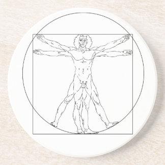 Hombre de Vitruvian de da Vinci Posavasos Manualidades