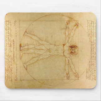 Hombre de Vitruvian de da Vinci Tapete De Ratones