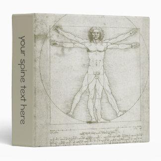 "Hombre de Vitruvian de Leonardo da Vinci Carpeta 1 1/2"""