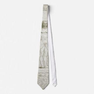 Hombre de Vitruvian de Leonardo da Vinci Corbata
