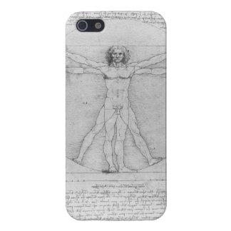 Hombre de Vitruvian de Leonardo da Vinci iPhone 5 Funda