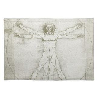 Hombre de Vitruvian de Leonardo da Vinci Manteles Individuales