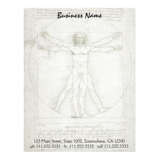 Hombre de Vitruvian de Leonardo da Vinci Plantilla De Membrete