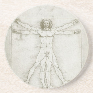 Hombre de Vitruvian de Leonardo da Vinci Posavasos Personalizados