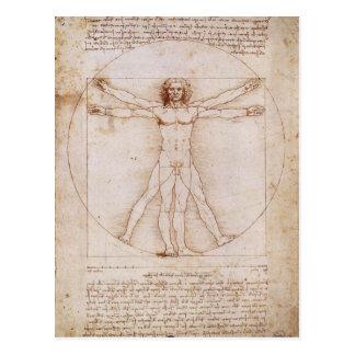 Hombre de Vitruvian de Leonardo da Vinci Postal