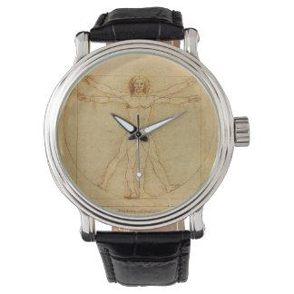 Hombre de Vitruvian de Leonardo da Vinci Reloj