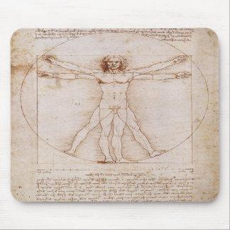 Hombre de Vitruvian de Leonardo da Vinci Alfombrillas De Raton