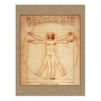 Hombre de Vitruvian de Leonardo da Vinci Postales