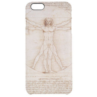 Hombre de Vitruvian Funda Clearly™ Deflector Para iPhone 6 Plus De Unc
