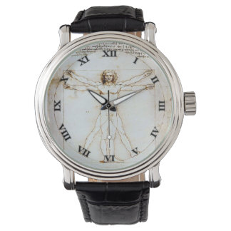 Hombre de Vitruvian - Leonardo De Vinci Watch - 1 Relojes De Mano