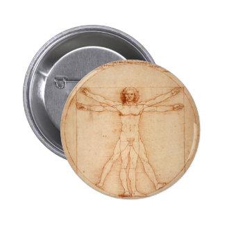 Hombre de Vitruviano Pin Redondo 5 Cm