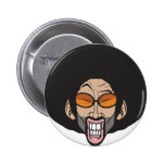 Hombre del Afro de Hiphop Pin Redondo 5 Cm