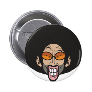 Hombre del Afro de Hiphop Pin Redondo De 2 Pulgadas