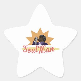 Hombre del alma pegatina en forma de estrella
