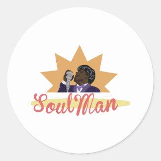 Hombre del alma pegatina redonda