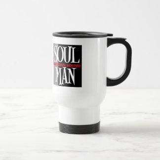 Hombre del alma viaje de 15 onzas/taza del viajero taza de viaje de acero inoxidable