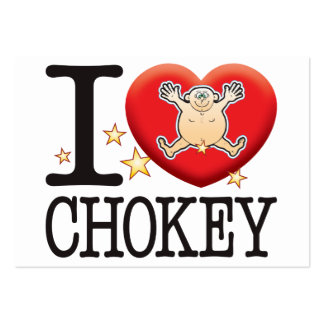 Hombre del amor de Chokey Tarjetas De Visita Grandes