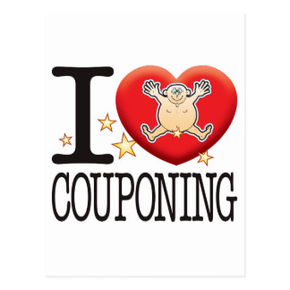 Hombre del amor de Couponing Tarjetas Postales