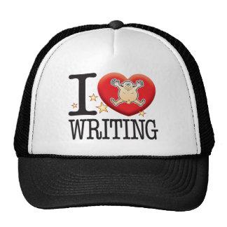 Hombre del amor de la escritura gorras