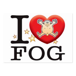 Hombre del amor de la niebla tarjetas de visita grandes