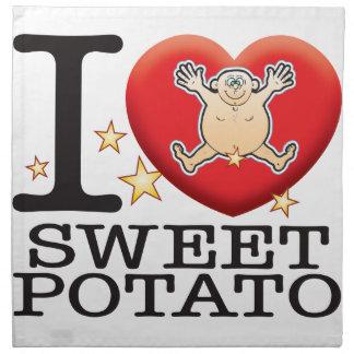 Hombre del amor de la patata dulce servilletas de papel