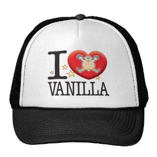 Hombre del amor de la vainilla gorras