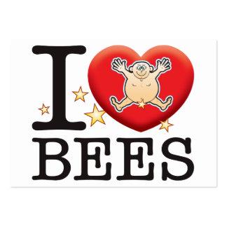 Hombre del amor de las abejas tarjetas de visita grandes
