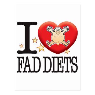 Hombre del amor de las dietas de novedad tarjeta postal