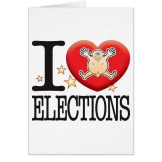 Hombre del amor de las elecciones tarjeta de felicitación
