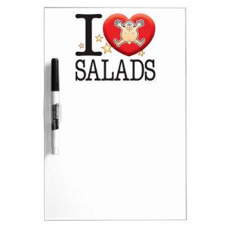 Hombre del amor de las ensaladas pizarras