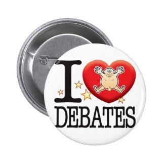Hombre del amor de los discusiones pin redondo de 2 pulgadas